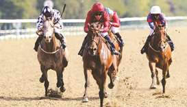 Qatar Racing Limited's End Zone sprints to victory during the Betway Novice Stakes at Lingfield, Eng