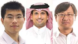 Dr Bo Wang, Ali al-Rashid and Dr David Yin Yang