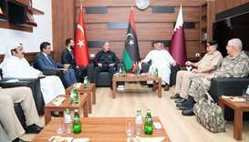 HE al-Attiyah and Turkish defence minister meet Libya's defence undersecretary