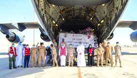 QRCS deploys second batch of humanitarian aid for Beirut