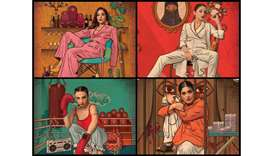 STARRING: Clockwise from top left, Yasra Rizvi as Jugnu Chaudhary, Sarwat Gillani as Sara, Nimra Buc
