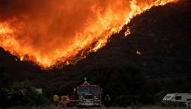 Apple fire grows to 50,000 acres, prompting thousands of evacuations