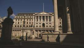 The Bank of England building in the City of London. The UK bond market is flashing warning signals t