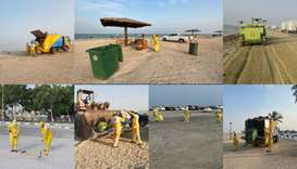 Cleaning operations at beaches and other places
