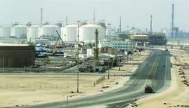 The Ras Laffan Industrial City, Qatar's principal site for production of LNG and gas-to-liquids, som