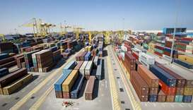 A view of the Hamad Port.