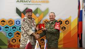 Qatar Armed Forces delegation in Russia