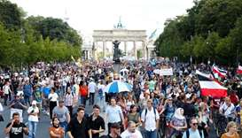 Berlin police disband protest against coronavirus curbs