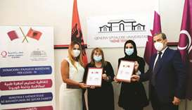 Embassy of Qatar provides medical aid to Albania