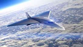 Courtesy of Virgin Galactic shows the Mach 3 Aircraft design for high speed travel