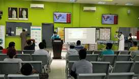 A QCS awareness session on liver cancer.