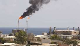 A general view shows the oil installation in Zawiya, Libya (file). Libya plans to export just 1.2mn