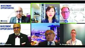 "Dr Seetharaman and other dignitaries during a webinar on ""Investment Opportunities"" held recently."