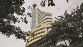 The Bombay Stock Exchange building in Mumbai. The Sensex closed little changed at 38,040.57 points e