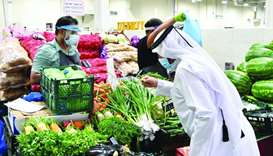A wide variety of fresh vegetables and fruits are available at Al Sailiya Central Market. PICTURE: R