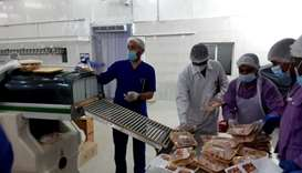 Veterinarians there inspected the slaughter of 1,395 heads of livestock, with 15 carcasses being des