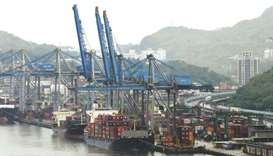 Gantry cranes at the Port of Keelung. Taiwan's economy grew faster than expected in the second quart