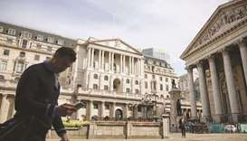 The Bank of England headquarters in London. A week after US Federal Reserve Chair Jerome Powell said