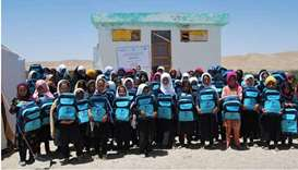 QRCS delivers educational aid to schools in Afghanistan