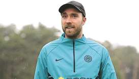 Eriksen at Inter training ground, in 'excellent shape' after Euro collapse