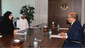 HE AlKhater thanked the ambassador for his efforts in enhancing the bilateral ties, wishing him succ