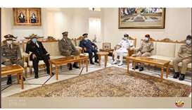 During the meeting, they reviewed the bilateral military relations between the two countries and way