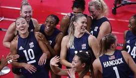 US beat world champions Serbia to reach women's volleyball final