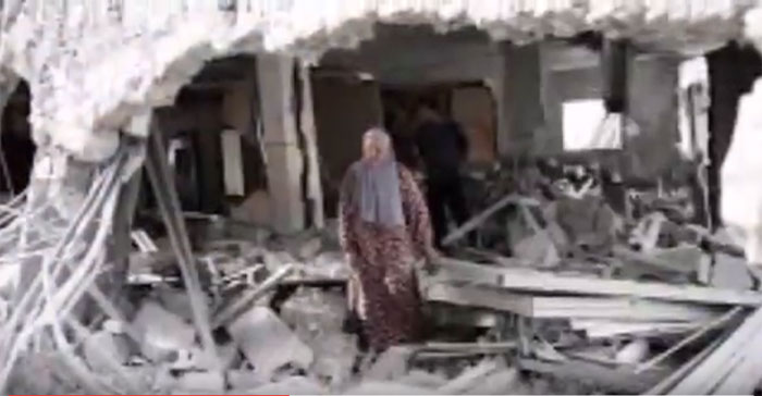 The demolished home of a jailed Palestinian in Hebron