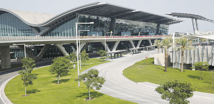 A general view of the exterior of the Hamad International Airport in this file photo dated October 2