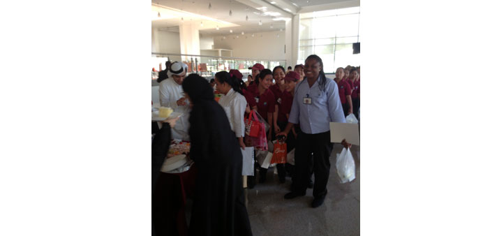Qatar University students take part in charitable activities
