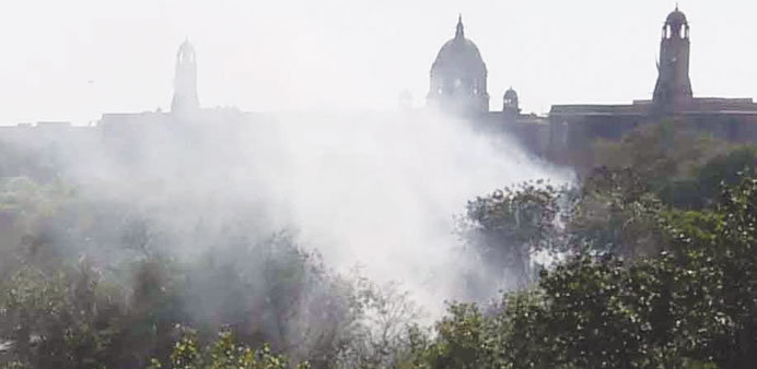 Fire breaks out at parliament complex