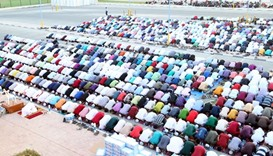 Eid al-Adha prayers at Wakhra Club