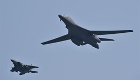 US bombers fly over South Korea in show of force