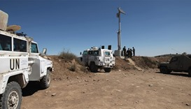 peacekeepers of the United Nations (UNDOF) monitor the border with Syria