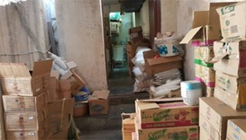 Illegal storage of food items inside a workers' accommodation in Bin Omran.