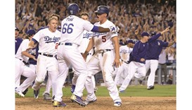 Dodgers walk off with a Giant roar