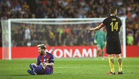 Messi out for three weeks as Barcelona held