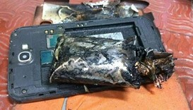 Samsung phone emits smoke on Indian airline flight