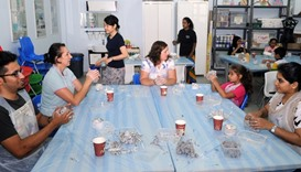 Adults also learn to have fun at the workshop
