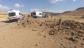 A bomb  exploded when a vehicle carrying members of the security forces passed by