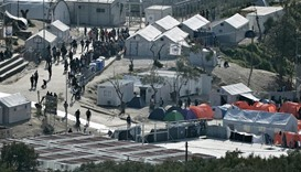 Moria camp on the island of Lesbos