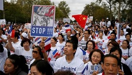 Chinese rally in Paris to protest against crime