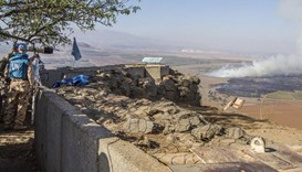 Golan heights shelling