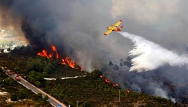 Arsonists blamed for Spanish wildfires