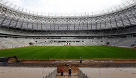 2018 World Cup: Work on track at Moscow stadium