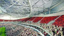After the 2022 FIFA World Cup, the upper tier of Al Thumama Stadium's modular seats will be donated