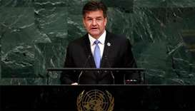 President of the United Nations General Assembly Miroslav Lajcak
