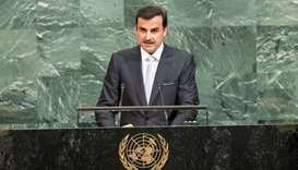 HH the Emir Participates in Opening Session of UN General Assembly
