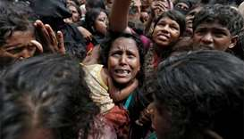 Bangladesh treats Rohingyas for bullet, machete wounds
