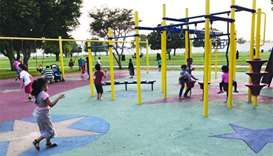 Drop in temperature lures residents to Doha parks